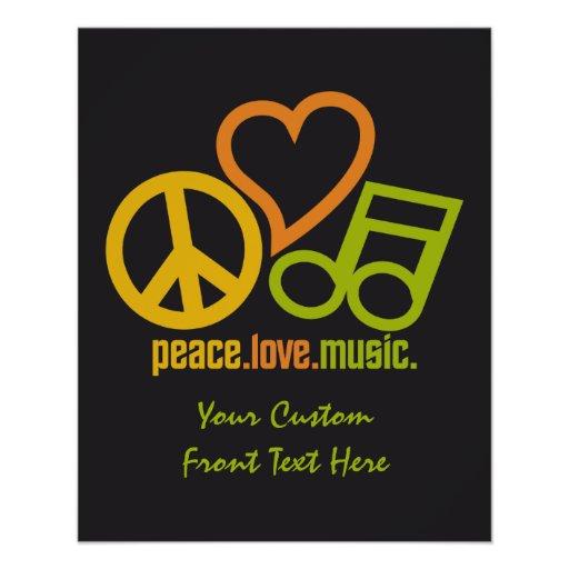 Peace Love Music custom flyers
