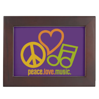 Peace Love Music custom keepsake box