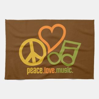 Peace-Love-Music custom kitchen towels