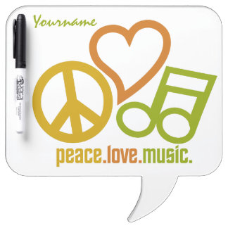 Peace Love Music custom message board