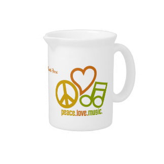 Peace Love Music custom pitcher