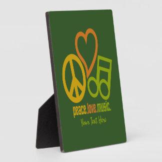 Peace Love Music custom plaque