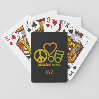 Peace Love Music custom playing cards