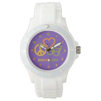 Peace-Love-Music custom watches