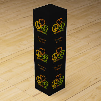 Peace Love Music custom wine gift box