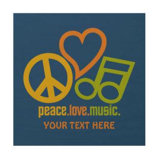 Peace Love Music custom wood canvas