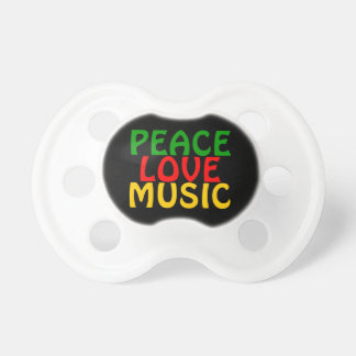 Peace Love Music Green Red Gold Dummy