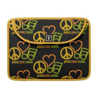 Peace-Love-Music Macbook sleeve