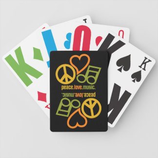 Peace-Love-Music playing cards