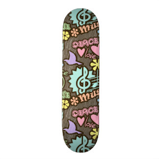 Peace, Love, Music Skate Board Decks