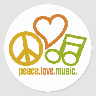 Peace Love Music stickers