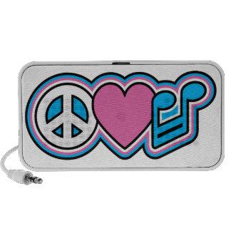 PEACE LOVE MUSIC Symbols Speaker
