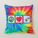 Peace, Love, Music; Tie Dye Cushions