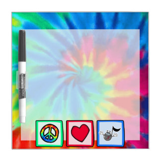 Peace, Love, Music; Tie Dye Dry Erase Board