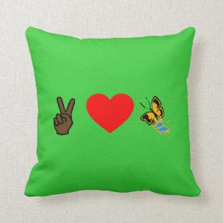 Peace Love N Butterflies American MoJo Pillow Cushions
