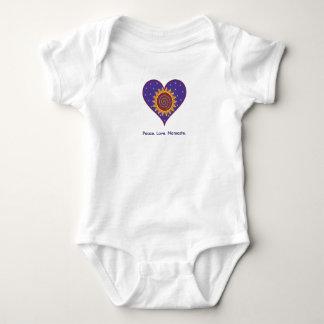 Peace. Love. Namaste. Baby Bodysuit