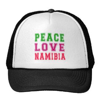 Peace Love Namibia Trucker Hat