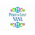 Peace Love Nana Postcard