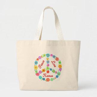 Peace Love Nanas Canvas Bags
