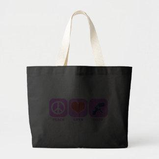 Peace Love Nato Canvas Bags
