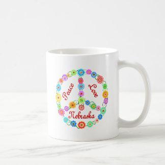 Peace Love Nebraska Coffee Mug