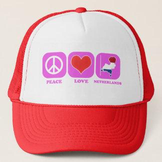 Peace Love Netherlands Trucker Hat