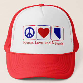 Peace Love Nevada Trucker Hat