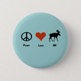 Peace Love New Hampshire 6 Cm Round Badge