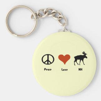 Peace Love New Hampshire Key Ring