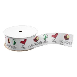 Peace Love New York City Ribbon Grosgrain Ribbon
