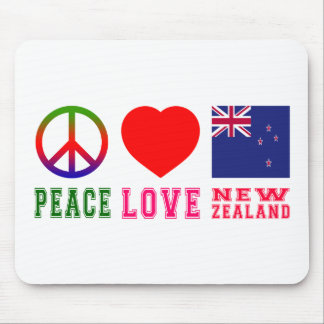 Peace Love New Zealand Mouse Pad