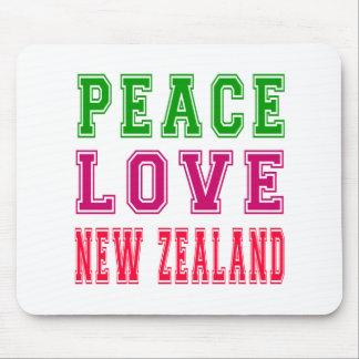 Peace Love New Zealand Mousepad