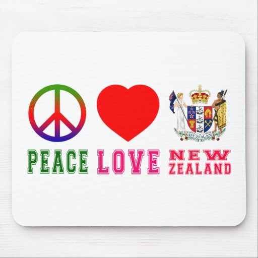 Peace Love New Zealand Mousepads