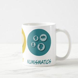 Peace Love Numismatics Mugs