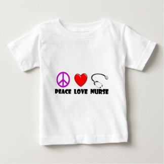 Peace Love Nurse Baby T-Shirt