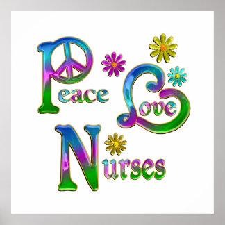 Peace Love Nurses Print