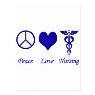 Peace Love Nursing Postcard