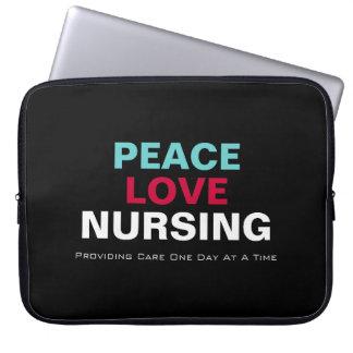 Peace Love Nursing Premium Laptop Sleeve