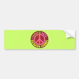 Peace, Love, Nursing School Bumper Sticker