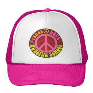 Peace Love Nursing School Trucker Hats