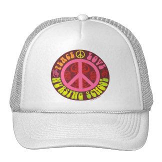 Peace, Love, Nursing School Hats