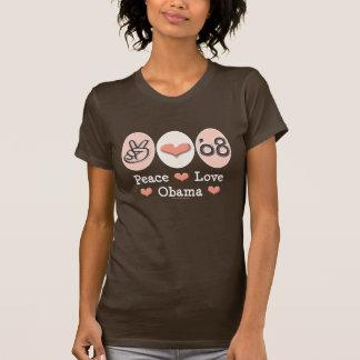 Peace Love Obama 08 T shirt