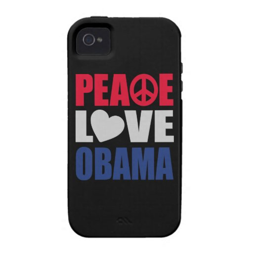 Peace Love Obama Vibe iPhone 4 Cases