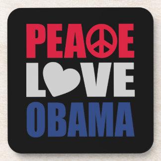 Peace Love Obama Drink Coasters