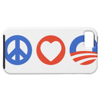 Peace Love Obama Tough iPhone 5 Case