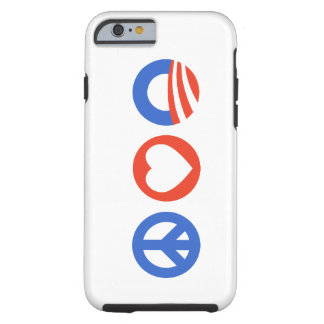 Peace Love Obama Tough iPhone 6 Case