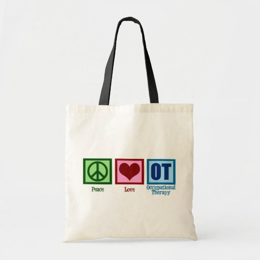 Peace Love Occupational Therapy Canvas Bag