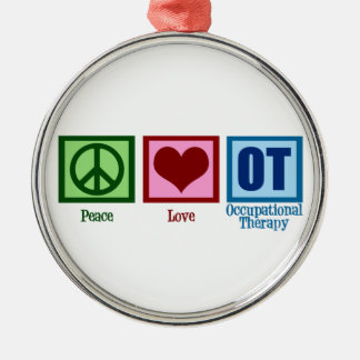 Peace Love Occupational Therapy Christmas Ornament