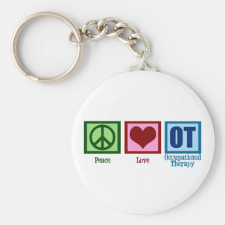 Peace Love Occupational Therapy Key Ring