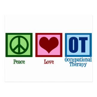 Peace Love Occupational Therapy Postcard